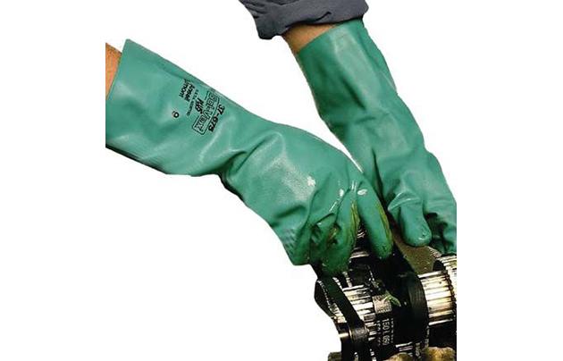 GLC/ Solvex нитриловые перчатки, зелёные
