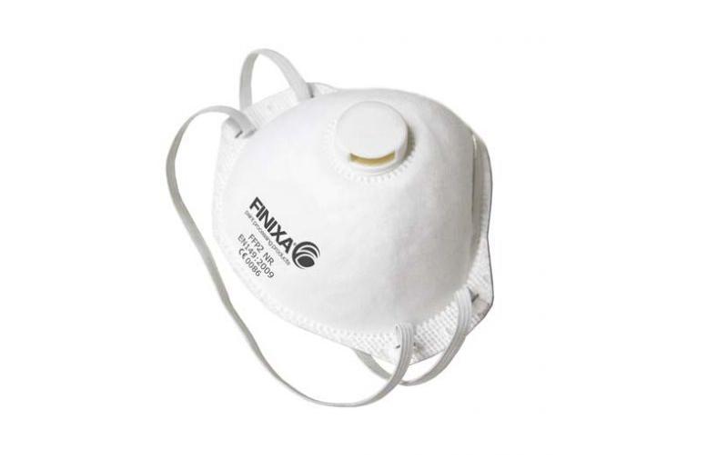 MAS 12/ Пылезащитная маска Finixa класса P2 с дыхательным клапаном — 15 шт